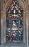 Stained glass at Saint Andrews Church, Fort William Scotland. Royalty Free Stock Photos