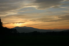 Fort William sunset. Sunset taken from the town of Fort William in the Scottish Highlands Stock Images