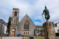 Fort William is a town in the western Scottish scotland united kingdom europe. Fort William is a town in the western Scottish Highlands, on the shores of Loch royalty free stock photo