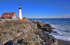 Fort Williams Lighthouse Royalty Free Stock Photo