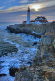 Fort Williams Lighthouse. In late January Stock Images