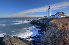 Fort Williams Lighthouse Royalty Free Stock Photos