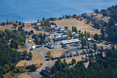 Fort Worden State Park Aerial Stock Images