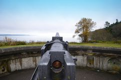 Fort Worden WWII Gun Royalty Free Stock Photo