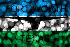 Fort Worth, αφηρημένη μουτζουρωμένη σημαία bokeh του Τέξας Χριστούγεννα, νέο έτος και σημαία έννοιας εθνικής μέρας η Αμερική δηλώ ελεύθερη απεικόνιση δικαιώματος