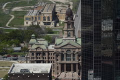 Fort Worth Cityscapes. View of Fort Worth Texas city landscape from 40 floor up in the center of the downtown area Stock Photography