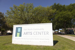 Fort Worth Community Arts Center. FORT WORTH, USA - APR 6: The Fort Worth Community Arts Center in the Cultural District. April 6, 2016 in Fort Worth, Texas, USA Royalty Free Stock Images