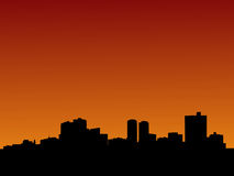 Fort Worth en la puesta del sol Imagen de archivo libre de regalías