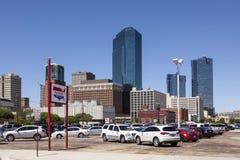 Fort Worth im Stadtzentrum gelegen Texas, USA Lizenzfreies Stockbild