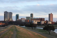 Fort Worth Levee. Taken North of Downtown Fort Worth Texas. This is the Trinity River levee royalty free stock image