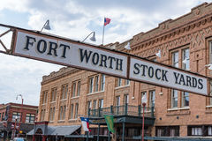 Fort Worth Stock Yards. Entrance sign to the cattle stockyards of Fort Worth, Texas on May 11, 2017 stock image