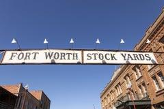 Fort Worth Stockyards historic district.Texas, USA Stock Photography