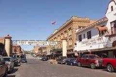 Fort Worth Stockyards historyczny okręg Zdjęcia Stock