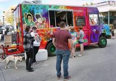 Fort Worth Teksas jedzenia ciężarówka przy pracą Fotografia Stock