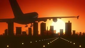 Fort Worth Teksas usa Ameryka linii horyzontu wschodu słońca lądowanie Fotografia Royalty Free