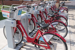 Fort Worth, Texas Bike Share Station stock images