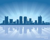 Fort Worth Texas city skyline silhouette. Fort Worth Texas city skyline Background vector illustration Royalty Free Stock Photos