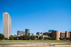 Fort worth texas city skyline and downtown royalty free stock photography