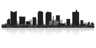 Fort Worth Texas city skyline silhouette. Fort Worth Texas USA city skyline silhouette Background vector illustration Stock Images