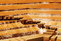 Fort Worth Water Garden. Water flows down terraced steps at the Ft Worth Water Garden in Texas Stock Photography
