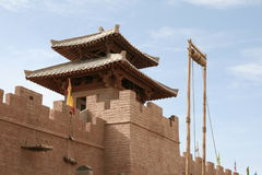Fort in Yang Guan museum near Dunhuang, China Royalty Free Stock Photography