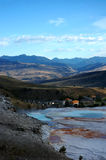Fort Yellowstone from Mammoth Hot Spring Terraces Stock Image