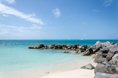 Fort Zachary Taylor Beach i Key West Arkivfoto
