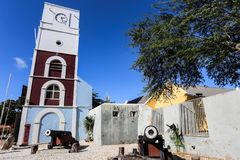 Fort Zoutman is a military Fortification. At Oranjestad, Aruba. Built in 1798 by the Dutch army, it is the oldest structure on the island of Aruba. The Willem stock photo