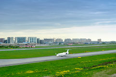 FortAero Baltic Airline Hawker Beechcraft 400XP aircraft in Pulkovo International airport in Saint-Petersburg, Russia Royalty Free Stock Images