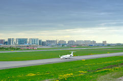 FortAero Baltic Airline Hawker Beechcraft 400XP aircraft in Pulkovo International airport in Saint-Petersburg, Russia Royalty Free Stock Photography