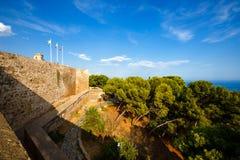 Fortalecimiento de Castillo de Gibralfaro en Málaga, España Foto de archivo libre de regalías