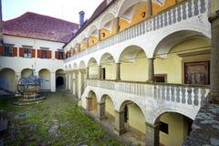 Fortalecimiento y castillo medievales viejos Riegersburg, Austria Imagenes de archivo