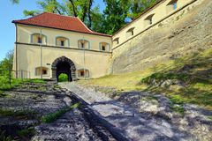 Fortalecimiento y castillo medievales viejos Riegersburg, Austria Fotos de archivo