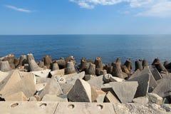 Fortalecimientos costeros Foto de archivo libre de regalías