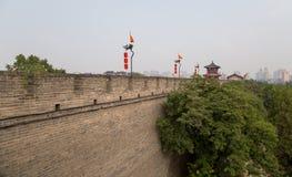 Fortalecimientos de Xian (Sian, Xi'an) una capital antigua de China Foto de archivo