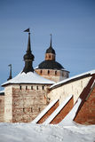 Fortalecimientos del monasterio de Kirillo-Belozersky Fotografía de archivo