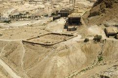 Fortalecimientos romanos cerca de la fortaleza de Masada Fotografía de archivo libre de regalías
