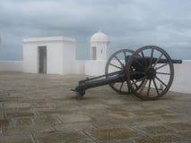 Fortaleza. Gun in Fortaleza, Military in Cerro ,Montevideo Uruguay Stock Photography
