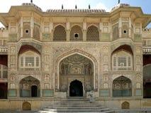 Fortaleza ambarina - Jaipur - la India Foto de archivo