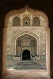 Fortaleza ambarina - Jaipur - la India Imágenes de archivo libres de regalías