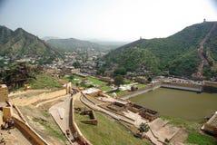 Fortaleza ambarina, Rajasthán Fotografía de archivo