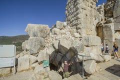 Fortaleza antiga de Nimrodâs. Fotos de Stock Royalty Free