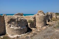 Fortaleza antiga dos cruzados perto de Ashdod Foto de Stock