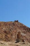 Fortaleza antiga) no vale de Basgo, distrito de Leh, Ladakh, Índia Fotografia de Stock Royalty Free