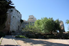 Fortaleza antiga Yehiam Fotografia de Stock Royalty Free