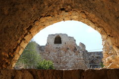 Fortaleza antigua Yehiam Fotos de archivo