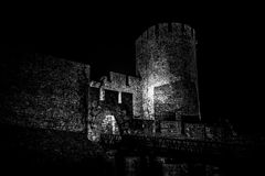 Fortaleza assustador de Kalemegdan Belgrado, Serbia Imagens de Stock Royalty Free