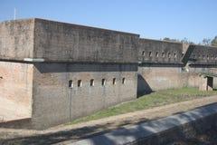 Fortaleza Barrancas cerca golfo de Pensacola, la Florida Foto de archivo libre de regalías