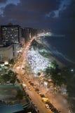 Fortaleza in Brasil by night. The Beach Beira Mar in Fortaleza in Brasil by night Stock Photo