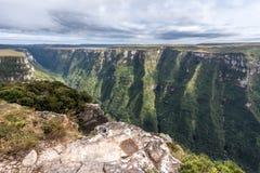 Fortaleza Canyon Aparados da Serra Brazil. The Fortaleza Canyon with its steep hills at Rio Grande do Sul, south of Brazil Stock Photo